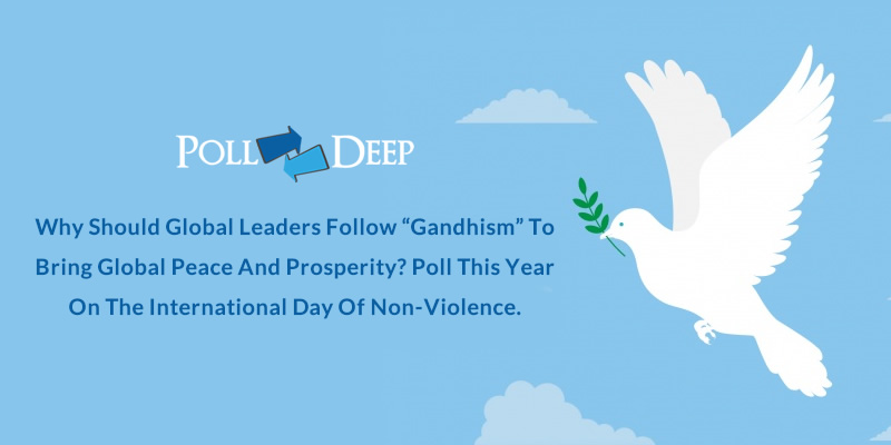 Why Should Global Leaders Follow Gandhism to Bring Global Peace and Prosperity Poll this Year on the International Day of Non-Violence